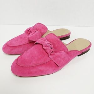 Ann Taylor Bow Slip On Mules Shoes Size 8